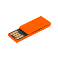 USB-paper clip - orange red